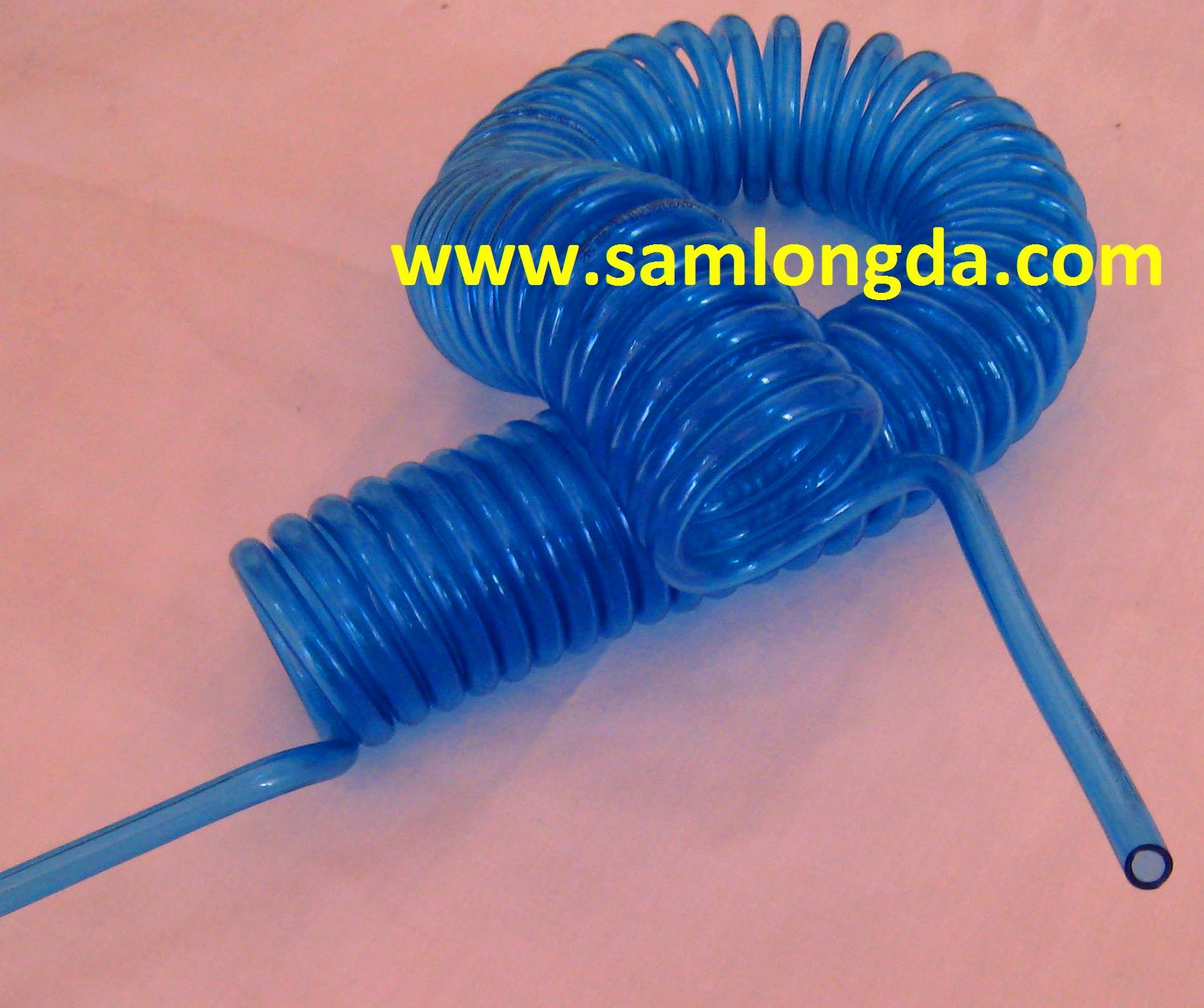 PU coil tube, PU Spiral Hose, Air Hose, pneumatic tubing - Coil Air Hose