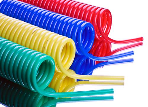 PU coil tube, PU Spiral Hose, Air Hose, pneumatic tubing - PU Spiral Hose